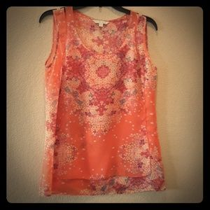 Like NEW CAbi floral tank